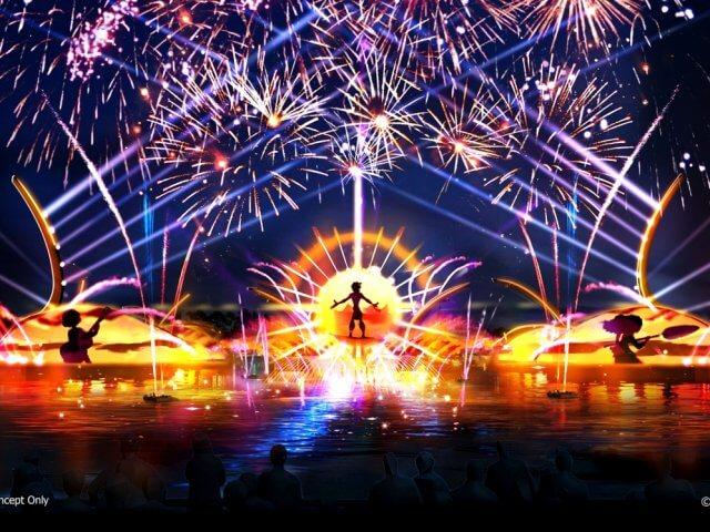 """Espetáculo """"Epcot Forever"""" no parque Epcot da Disney Orlando"""
