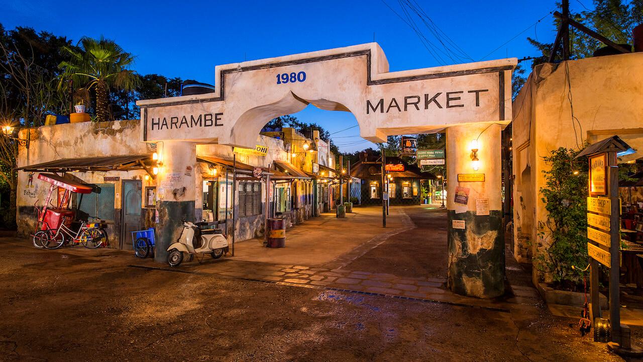 Circle of Flavors: Harambe at Night na Disney Orlando em 2019: Harambe Market