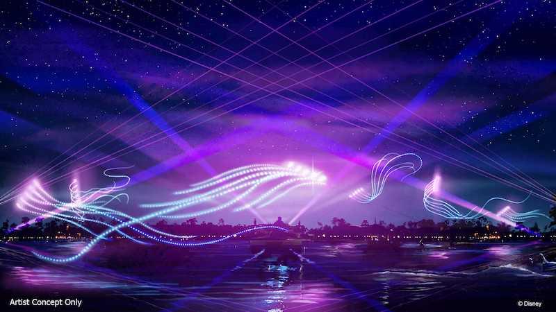 """Espetáculo """"Epcot Forever"""" no parque Epcot da Disney Orlando: luzes"""