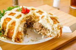 Restaurante Mrs. Potato em Orlando: batata recheada