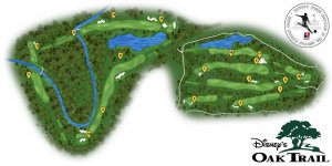 Disney's Oak Trail Golf em Orlando: mapa