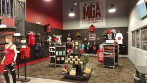 Estande de tiros Machine Gun America em Orlando: loja de souvenirs