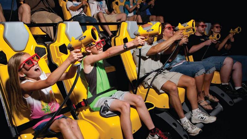 7D Dark Ride Adventure em Orlando: sala de jogos