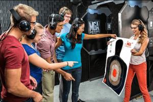 Estande de tiros Machine Gun America em Orlando: tiros