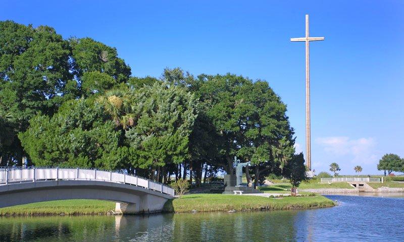 Pontos turísticos em Saint Augustine: parque Mission Nombre de Dios