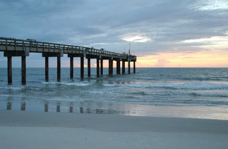 Praias em Saint Augustine: píer