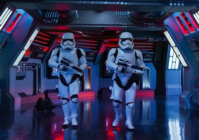 Star Wars: Rise of the Resistance no Hollywood Studios da Disney Orlando: Stormtrooper
