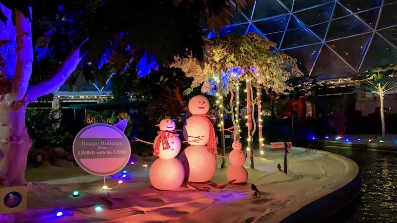 Living with the Land: Merry and Bright Nights no Epcot da Disney Orlando: bonecos de neve