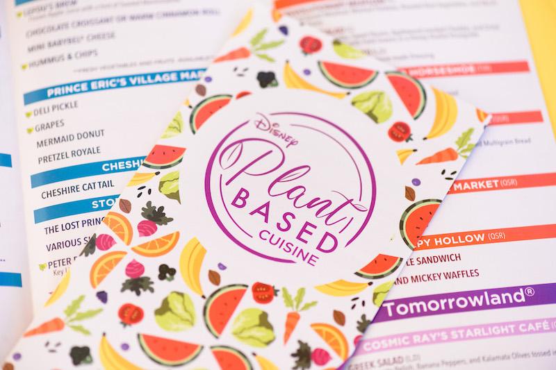 Comidas vegetarianas e veganas na Disney Orlando: folheto Plant-Based Cuisine