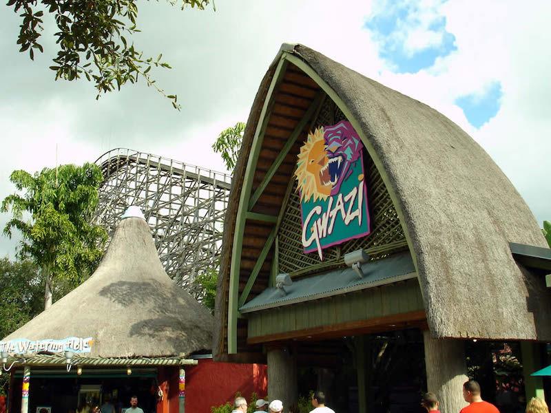 Montanha-russa Iron Gwazi no Busch Gardens: antiga atração Gwazi
