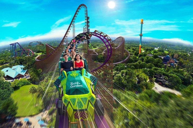 Montanha-russa Iron Gwazi no Busch Gardens