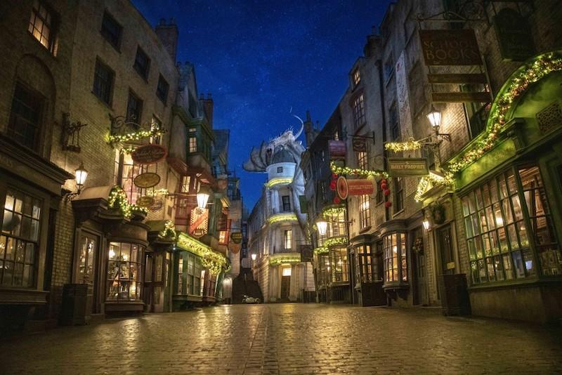 Natal na Universal Orlando em 2019: Beco Diagonal de Harry Potter no Universal Studios