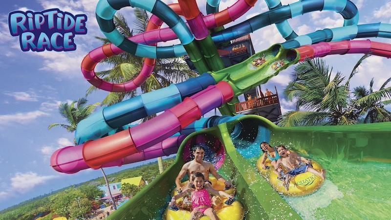 Riptide Race no parque Aquatica em Orlando