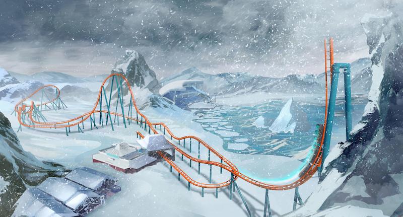 Parque SeaWorld em Orlando: montanha-russa Ice Breaker
