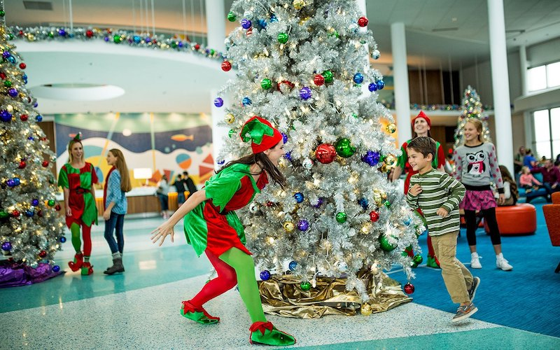 Caça ao tesouro de Natal na Universal Orlando: árvores de Natal
