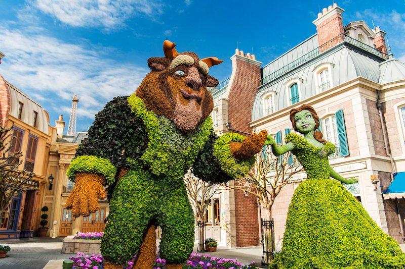 Epcot International Flower & Garden Festival 2020 na Disney Orlando: A Bela e a Fera