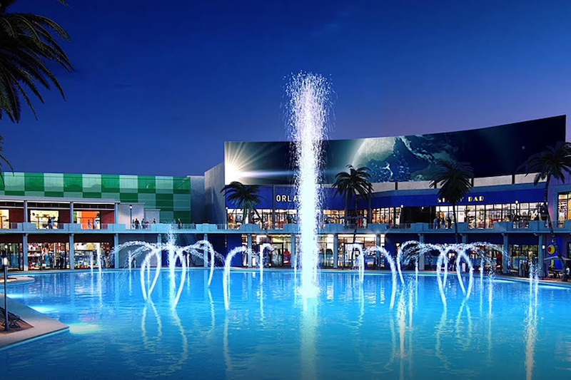 O-Town West em Orlando: fonte d'água