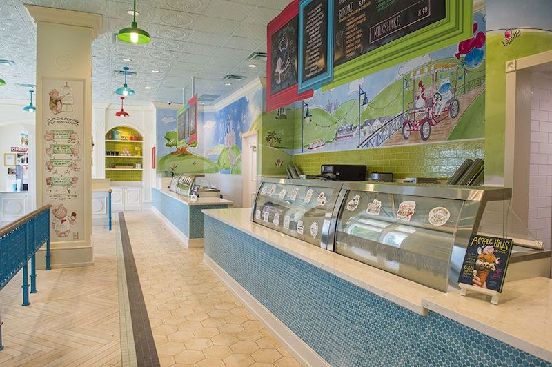 Sorveteria Ample Hills Creamery na Disney Orlando: interior