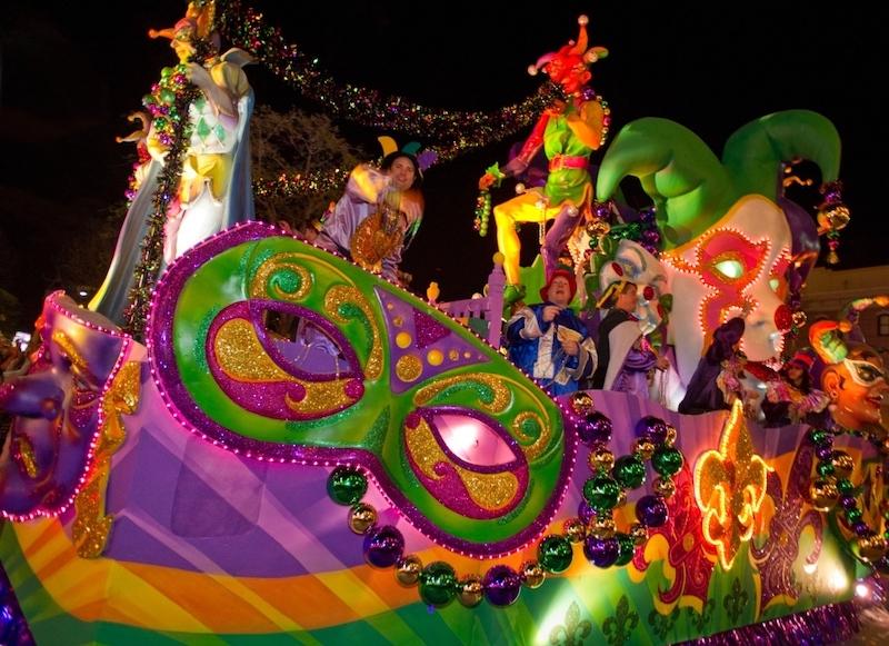 Mardi Gras na Universal Orlando em 2020: personagens do desfile