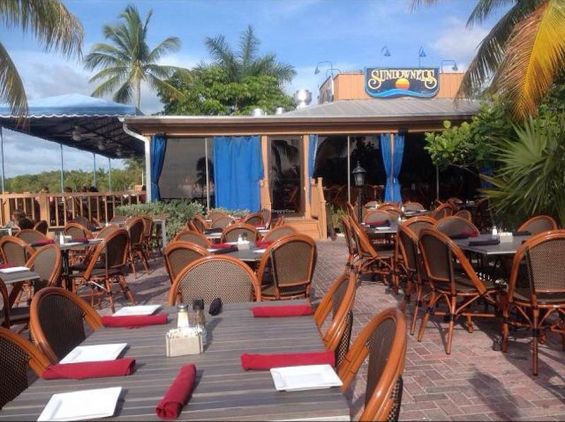7 restaurantes em Florida Keys: restaurante Sundowners em Key Largo