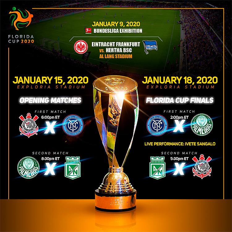 Florida Cup em Orlando em 2020: tabela de jogos