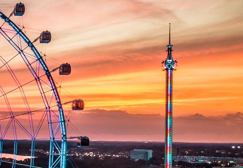 Orlando Gyro Drop Tower no ICON Park