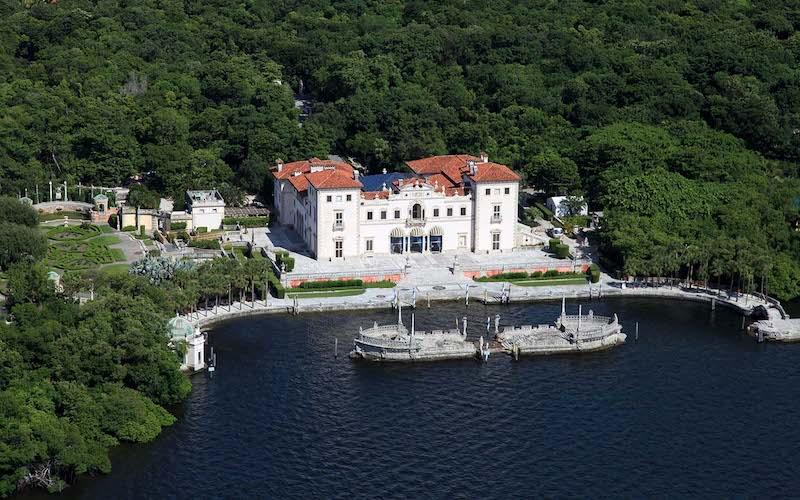 Vizcaya Museum and Gardens em Miami: vista aérea do museu Vizcaya