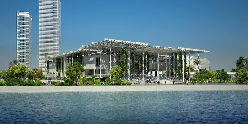 Museu de Arte de Miami: fachada do museu