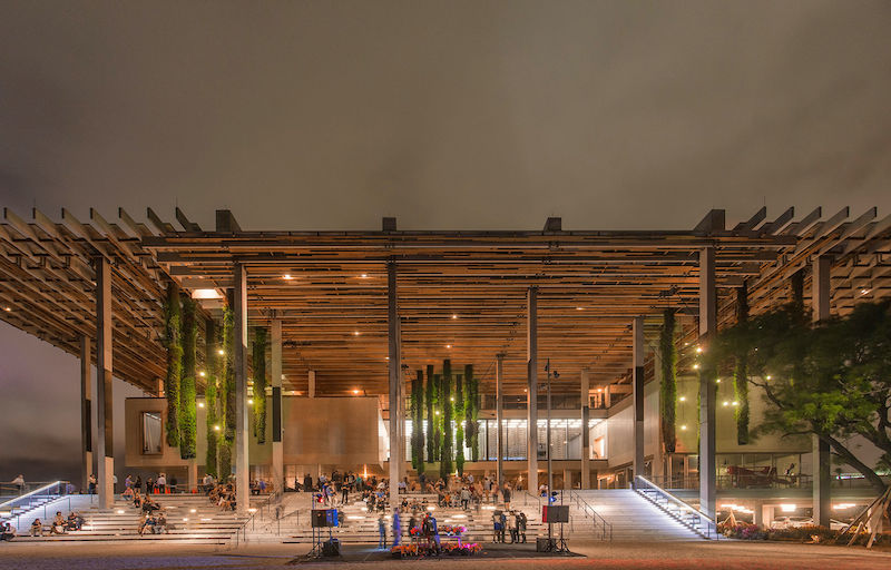 Museu de Arte de Miami: museu à noite
